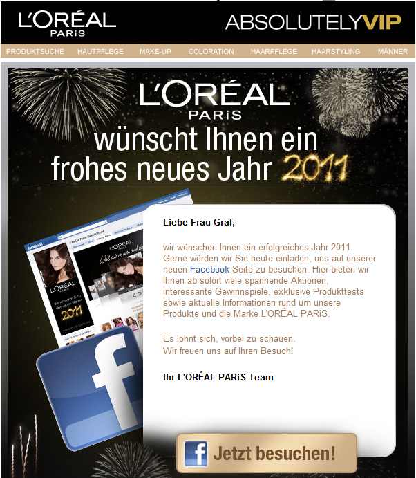 L'Oreal Newsletter
