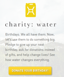 Klout for Good - Charitywater